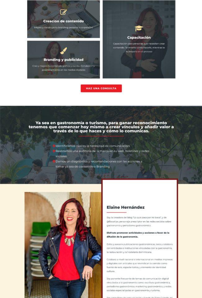 Elaine Hernández - Sitio Web