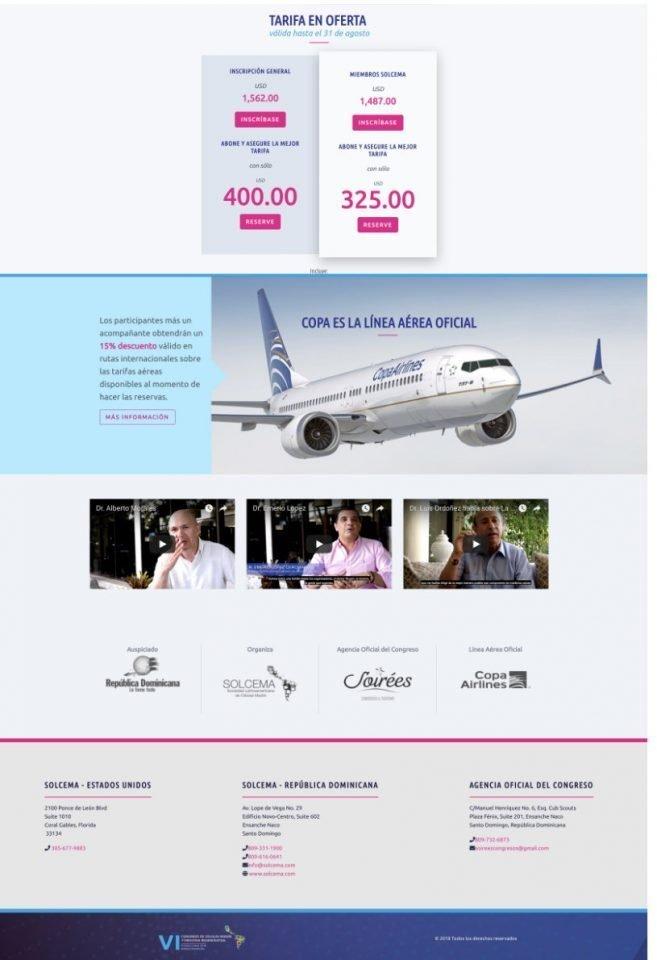 Solcema - Congreso - Sitio Web